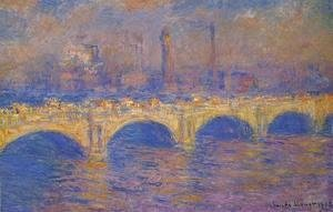 Claude Oscar Monet - Waterloo Bridge  Sunlight Effect3