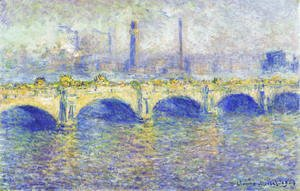 Claude Oscar Monet - Waterloo Bridge  Sunlight Effect4