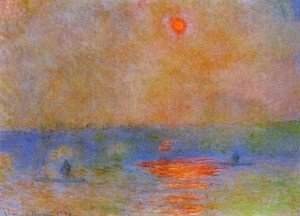 Claude Oscar Monet - Waterloo Bridge  Sunlight In The Fog