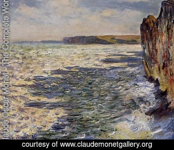 Claude Oscar Monet - Waves And Rocks At Pourville