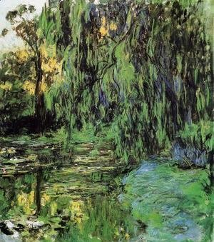 Claude Oscar Monet - Weeping Willow And Water Lily Pond