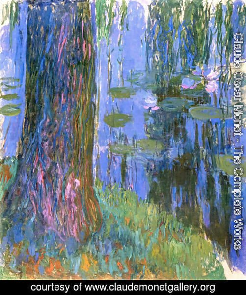 Claude Oscar Monet - Weeping Willow And Water Lily Pond2