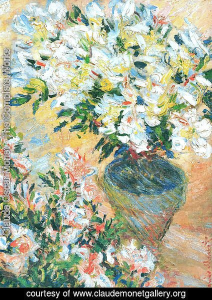 Claude Oscar Monet - White Azaleas In A Pot