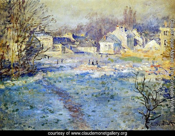 Claude Oscar Monet - The Complete Works - White Frost - claudemonetgallery.org