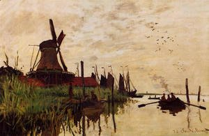 Claude Oscar Monet - Windmill At Zaandam