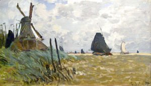 Claude Oscar Monet - Windmill Near Zaandam