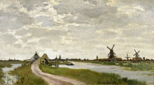 Claude Oscar Monet - Windmills At Haaldersbroek  Zaandam