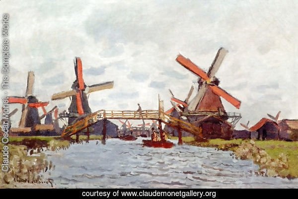 Windmills Near Zaandam