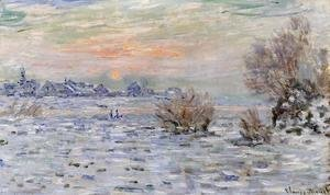 Claude Oscar Monet - Winter On The Seine  Lavacourt