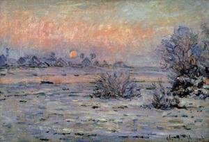 Claude Oscar Monet - Winter Sun  Lavacourt2