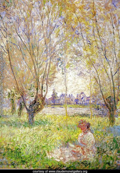 Woman Sitting Under The Willows