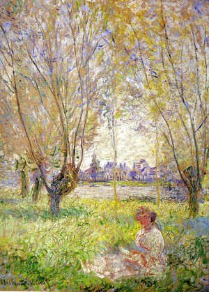 Claude Oscar Monet - Woman Sitting Under The Willows