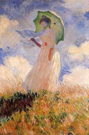 Claude Oscar Monet - Woman With A Parasol Aka Study Of A Figure Outdoors (Facing Left)