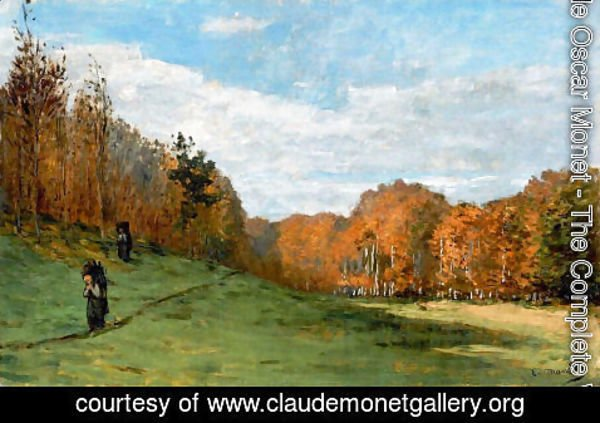 Claude Oscar Monet - Woodbearers In Fontainebleau Forest