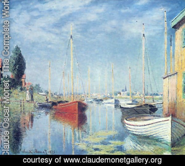 Claude Oscar Monet - Yachts At Argenteuil