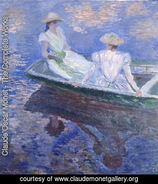 Claude Oscar Monet - Young Girls In A Row Boat