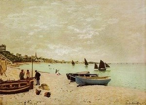 Claude Oscar Monet - Beach at Sainte-Adresse