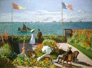 Claude Oscar Monet - Terrace at the Seaside, Sainte-Adresse