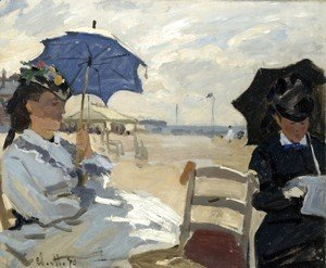 Claude Oscar Monet - On the Beach, Trouville (La plague de Trouville)