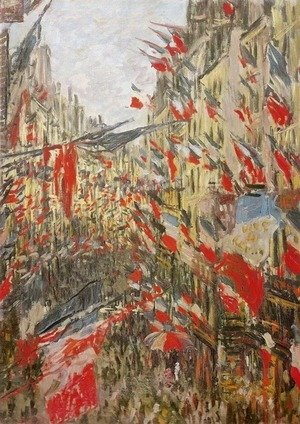 Claude Oscar Monet - Rue Montorgueil Decked Out with Flags
