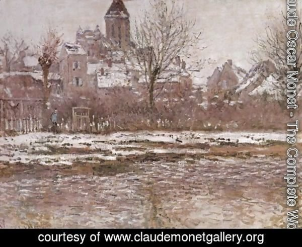 Claude Oscar Monet - Snow Effect at Vetheuil