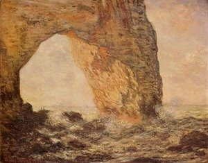 Claude Oscar Monet - Cliff at Etretat (La Manneporte)