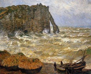 Rough Sea, Etretat (La Porte d'Aval)