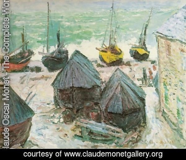 Claude Oscar Monet - Boats in Winter Quarters, Etretat