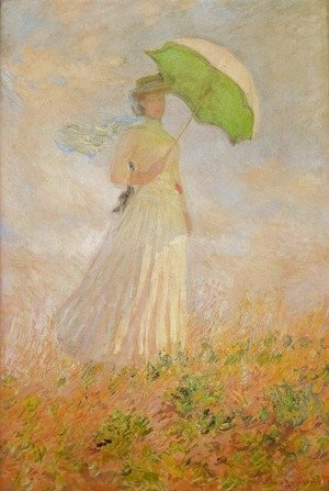 Claude Oscar Monet - Lady with a Parasol
