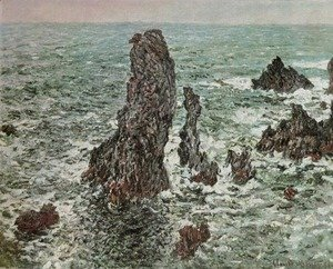 Claude Oscar Monet - Rocks at Belle-Ile (The Needles of Port-Coton)