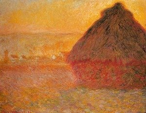 Claude Oscar Monet - Haystack at Sunset near Giverny