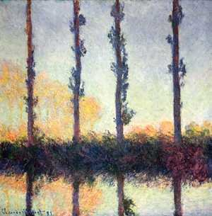 Claude Oscar Monet - Four Poplars