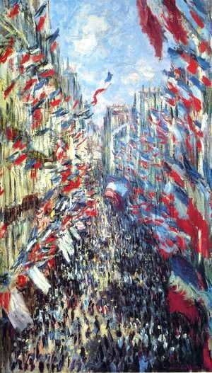 Claude Oscar Monet - Rue Montorgueil, Paris: Festival of June 30, 1878