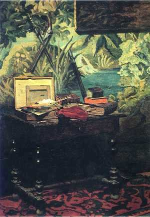 Claude Oscar Monet - A Corner of the Studio  1861