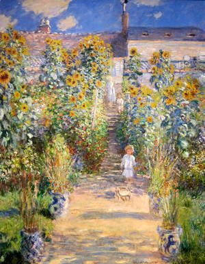 Claude Oscar Monet - The Artist's Garden at Vetheuil  1880